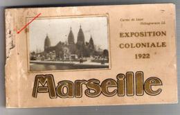 13 MARSEILLE Carnet Complet 20 Cartes Exposition  Coloniale 1922 - Kolonialausstellungen 1906 - 1922