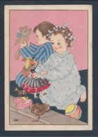 Dolls. Puppen. Dukker. Kerstmis. Christmas Postcard Stationery Circled 1942. World War II. Poupées. Noël. Happy Holidays - Dolls