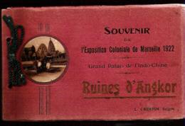 13 MARSEILLE Carnet Complet 20 Cartes Expo Coloniale 1922 Ruines D'Angkor édition Crespin Saïgon - Colonial Exhibitions 1906 - 1922