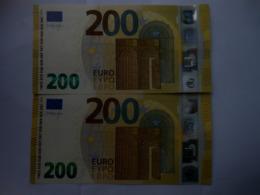 200 Euro-Schein SE Draghi Unc.je - EURO