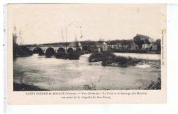 CPA-87-1918-SAINT-PIERRE-de-MAILLÉ-VUE GENERALE-LE PONT ET LE BARRAGE DES MOULINS-PRISE DE LA CHAPELLE DU BAS-BOURG- - Andere Gemeenten