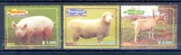 O114- Paraguay 2003. Fauna. Pig. Sheeb. Mountain Goat. - Other