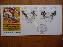 (1) DUITSLAND DEUTSCHE BUNDESPOST FDC 1971 EUROPAMEISTERSCHAFT DER SPRINGREITER AACHEN - [7] République Fédérale