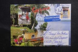 FRANCE - Affranchissement De Montsinery-Tonnegrande Sur Enveloppe Illustrée Pour La Métropole En 2002 - L 47022 - Storia Postale