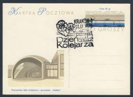 Poland Polska Polen 1976 Karte Card – Tag Der Eisenbahner / Railway Workers Day, Krakow - Treinen