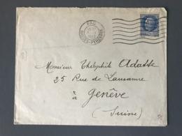 France N°520 Seul Sur Lettre De Pau Pour Genève (Suisse) 1942 - (B2507) - 1921-1960: Periodo Moderno