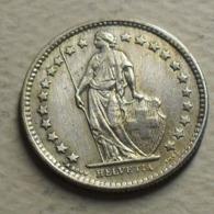 1957 - Suisse - Switzerland - 1/2 FRANC (B), Argent, Silver, KM 23 - Suisse