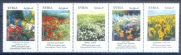 O115- Syria 2003 International Flower Show. Roses Violets Anemones Daisies. - Other