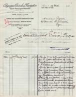 69 LYON FACTURE 1943 COMPAGNIE GENERALE DE NAVIGATION  Gare D' Eau De Vaise  -- X47 Rhône - Verkehr & Transport