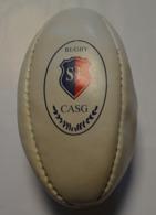 MINI BALLON DEDICACE MATCHE STADE FRANCAIS/LEINSTER JEAN BOUIN 1998 - Rugby