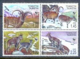 O119- Tajikistan 2005 Fauna Mammals Goats WWF. Himalayan Blue Sheep Blauschaf Bharal. - W.W.F.