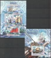 SS972 2012 BURUNDI TRANSPORTATION SHIPS LES VOILIERS 1KB+1BL MNH - Barche