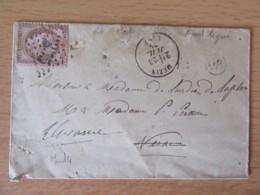 Timbre Cérès 10c YT N°54 Sur Enveloppe - GC 2355 Mézin Vers ?? - 1875 - 1871-1875 Ceres