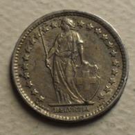 1960 - Suisse - Switzerland - 1/2 FRANC (B), Argent, Silver, KM 23 - Suisse