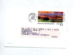 Carte Postale 15 Bison Flamme Muette Petersburg - Ganzsachen