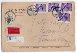 1966 YUGOSLAVIA,SLOVENIA,FOTO-TANJUG, LJUBLJANA- BELGRADE,SPECIAL CANCELATION ICE HOCKEY WORLD CUP,RECORDED,EXPRESS MAIL - Covers & Documents