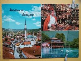 KOV 303-15 -  SARAJEVO, BOSNIA AND HERZEGOVINA, MOSQUE, DZAMIJA, NATIONAL COSTUME - Bosnia Erzegovina