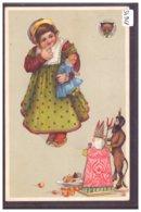 ENFANT - PERE NOEL ET DIABLE - DEUTSCHER SCHULVEREIN 1880 - TB - Szenen & Landschaften
