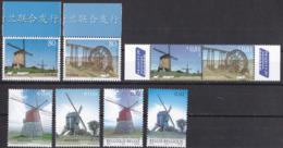 Ei_ Kleines Lot Marken Und Belege - Mühlen Windmühlen Mills Windmills - Mühlen