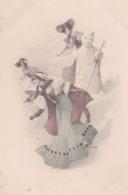 Liberty  ,Tre Gioiose Ragazze Giocano A Palle Di Neve  -  Firmata  S. Havdy  -  Ediz. Zagrab  ,  Serie   204 - Non Classificati