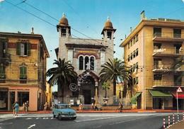 Cartolina Bordighera Chiesa Terrasanta Timbro Risparmio Postale - Imperia