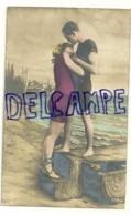 Photographie Montage. Jeune Couple En Maillot Au Bord De La Mer. 1922 - Couples