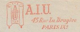 Meter Cut France 1957 A.I.U. - Israelite Universal Alliance - Scroll - Book - Unclassified