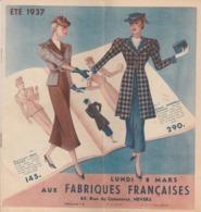 -  58 NEVERS -  AUX FABRIQUES FRANCAISES , Catalogue De 12 Pages Avec Mode Et Habits - Vintage Kleding, Linnengoed
