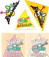 Lot Autocollants BRASILIA - Aufkleber