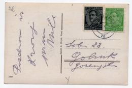 1932 YUGOSLAVIA, SLOVENIA, TPO 70 LJUBLJANA - TRZIC, KRANJ TO GOLNIK, ILLUSTRATED POSTCARD,  USED - Yugoslavia