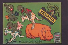 Image Publicité BANANIA Publicitaire Réclame Voir Scan Du Dos Hippopotame Kangourou Courbevoie - Pubblicitari