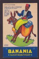 Image Publicité BANANIA Publicitaire Réclame Voir Scan Du Dos Ane Découpage Louis Gougeon - Pubblicitari