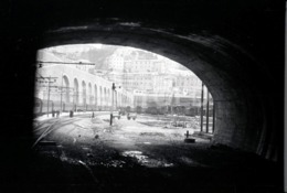 1957 GARE TRAIN STATION ITALIA ITALY AMATEUR 35mm ORIGINAL NEGATIVE Not PHOTO No FOTO - Autres