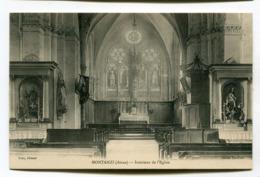 CPA  02 : MONTAIGU   Intérieur église   A  VOIR   !!!! - Autres Communes