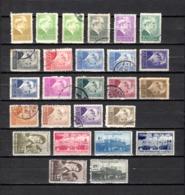 Turquía  1943 .-  Y&T  Nº   993/997-999-1001/1007-1009/1012-1014/1019 - Usados