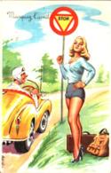 Illustrateur Carriere - Pin-up, Auto - Stop Marquez L'arrêt - Carrière, Louis