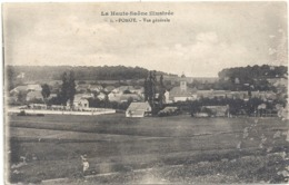 LA HAUTE-SAONE ILLUSTREE .1. POMOY . VUE GENERALE . CARTE ECRITE AU VERSO LE 27-6-1917 - Francia