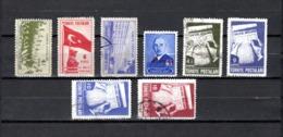 Turquía  1943-45 .-  Y&T  Nº   1020/1021-1023-1026-1027/1030 - Usados