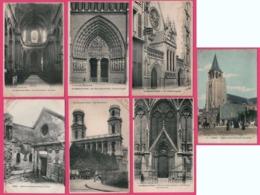 22 Cp Les Eglises De Paris - St Pierre De Montmartre - Calvaire - Toutes Scannées - Mooi Lot Van 22 Postkaarten - Eglises