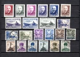 Turquía  1946-47 .-  Y&T  Nº   1031/1036-1037/1039-1040/1042-1044/1047-1048/1053 - Usados