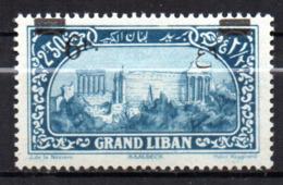 Col17  Colonie Grand Liban Variété N° 80 Neuf X MH  Cote >>> € - Grand Liban (1924-1945)