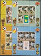 Soccer World Cup 1982 - Football - BHUTAN - Set Of 4 Sheets MNH - Fußball-Weltmeisterschaft