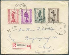 N°617/619-621 - Affr. METIERS Obl. Sc BORGERHOUT Sur Enveloppe Recommandée Du 5-VI-1943 Vers Gand. - TB   - 14743 - Cartas