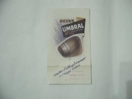 DEPLIANT PUBBLICITARIO OCCHIALI ZEISS UMBRAL LENTI PROTETTIVE DA SOLE. - Publicité