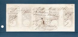 Timbre Fiscal-Effets De Commerce-no4 Bande De 5-Grandes Marges-Rare- - Revenue Stamps