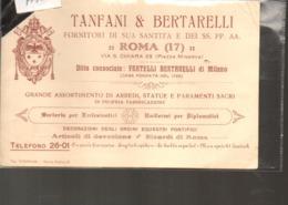 Lotto 209 Pubblicitaria Tanfani E Bertarelli Roma - Advertising
