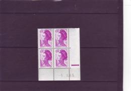 N° 2184 - 0,50F LIBERTE - 18°tirage - Du 4.9 Au 5.9.85 - Dernier Jour - Papier Blanc Aux UV - (RE) - 1980-1989
