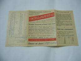 CONSOCIAZIONE TURISTICA ITALIANA MILANO CONCORSO A PREMI 1939 CONTI CORRENTI POSTALI - Publicité