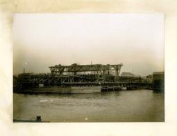 Photographie D'un Chantier De Pont Métallique, Daté Décembre 1894, Atelier De Creil, Daydé Et Pillé - Antiche (ante 1900)