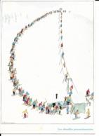 Les Chenilles Processionnaires Dessin De SAMIVEL; Format 11,8x16,8 Cm (voyagée En 1982) - Ed. Mythra N° 1119 - Other Illustrators